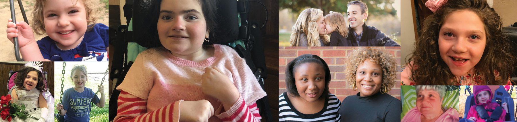 Photos of girls with Rett Syndrome from Tennessee